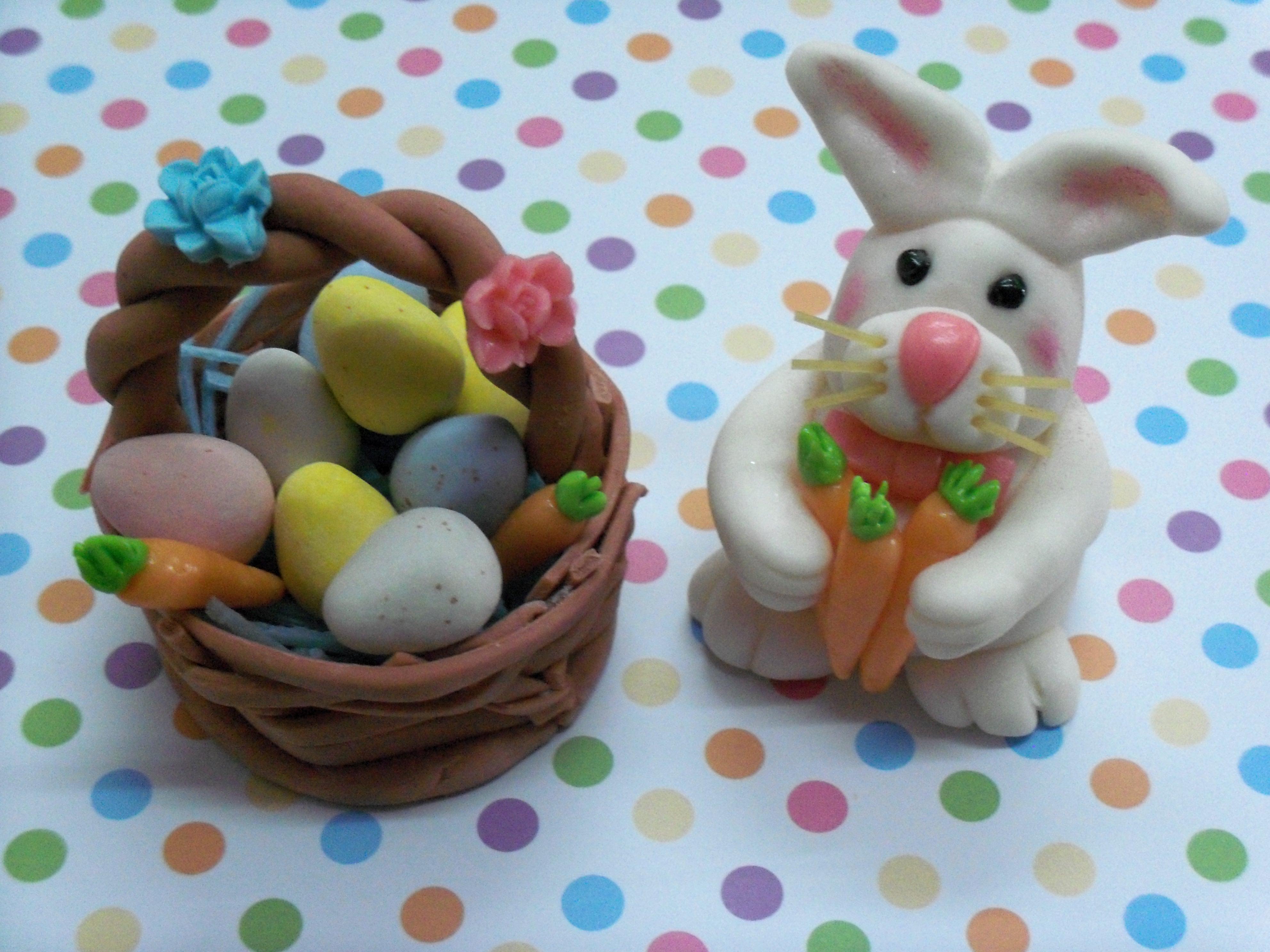 Easter Bunny and Egg Basket